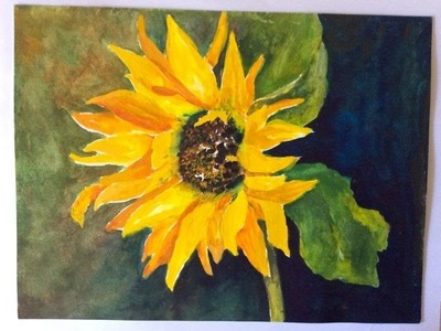 Watercolor tutorial ~ How to paint an easy Sunflower Background