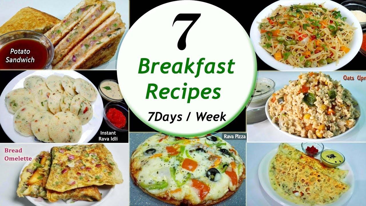 7 Breakfast recipes    7 Days.Week Breakfast recipes    Simple & Easy Recipes