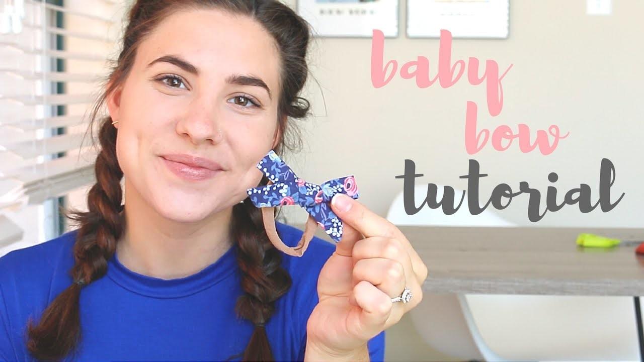 Baby Bow Headband Tutorial   Lindsay Brooke