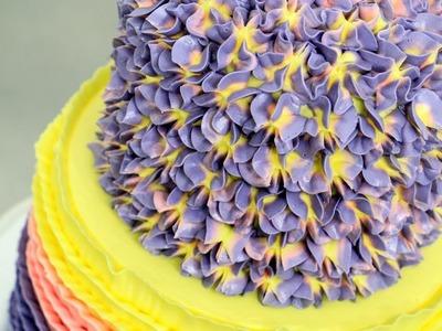 BUTTERCREAM HYDRANGEA CAKE | How To Make by Cakes StepbyStep