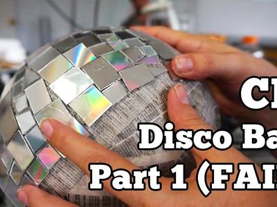CD Disco Ball - Part 1 (FAIL)   Barb Makes Things #31