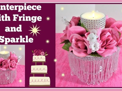 ????Centerpiece with Silver Fringe and Sparkle????