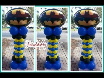 Columna con globos de tema batman