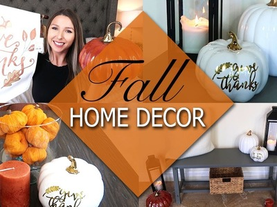 Decorate With Me FALL 2017 | HomeGoods Fall Home Decor Haul + Styling