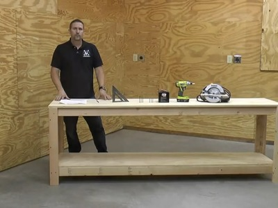 DIY - 8' Workbench for Sheath.Holster Making - (Part 1) - Building the Base Workbench