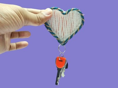 DIY Crafts How To Make A Keychain with hot glue and Rope