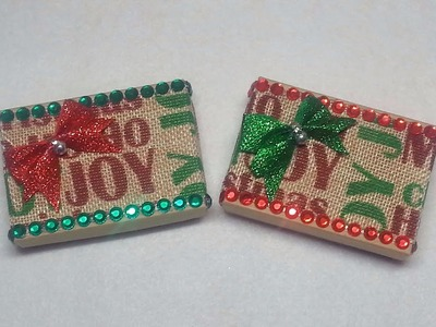 DIY~Decorating And Making Stocking Stuffer Boxes For Christmas!
