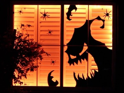 DIY Dollar Store Halloween Decor Window Display | Decorate with Me!