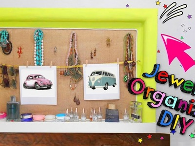 DIY how to make a frame jewelry organizer with cardboard - MR DIY