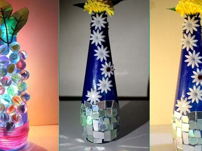 DIY - How to make flower vase at home - Ways to decorate a vase - Flower vase decoration ideas