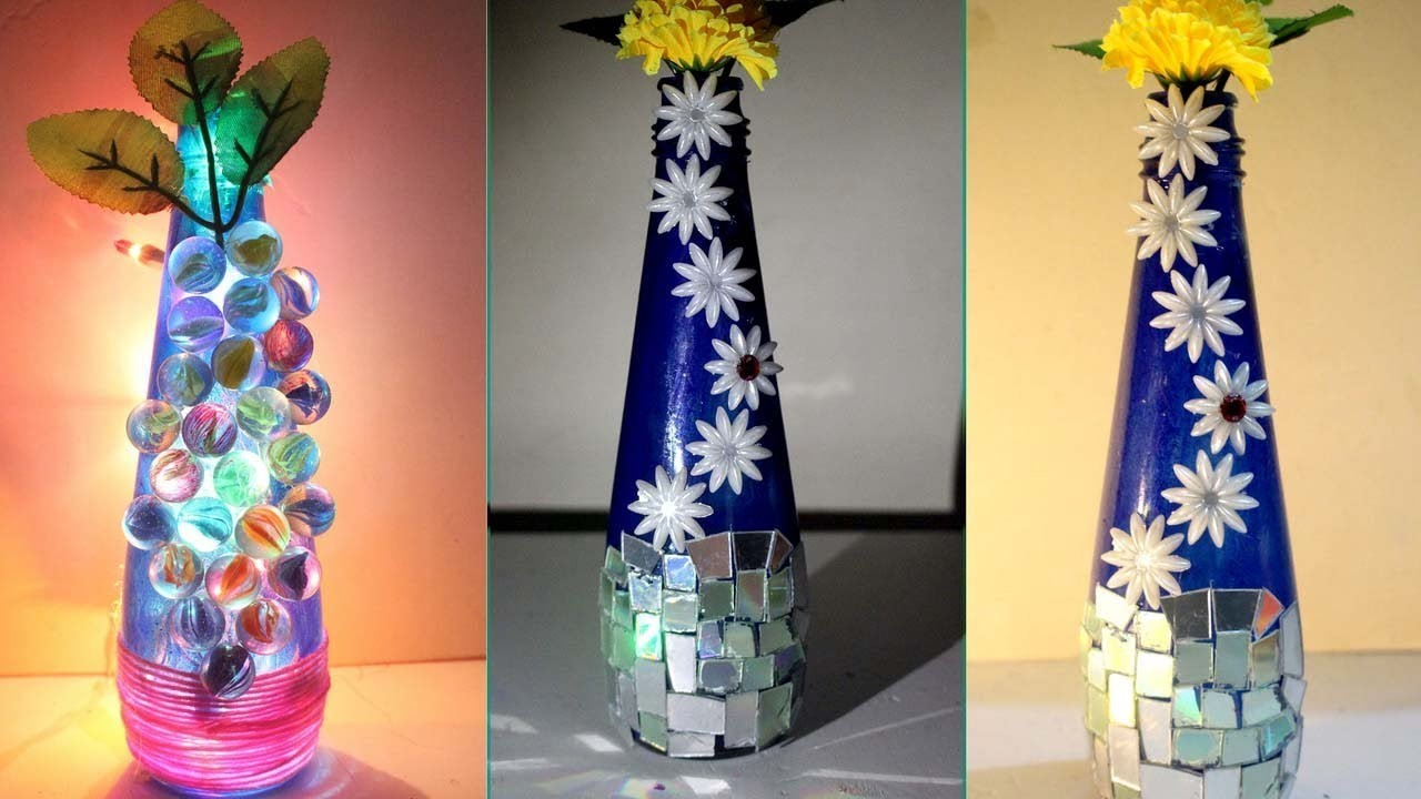 DIY - How to make flower vase at home - Ways to decorate a vase - Flower vase decoration ideas