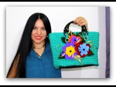 DYI.TUTORIAL: How to make a bag with wool and crochet yarn.Borsa fatta con filo e uncinetto