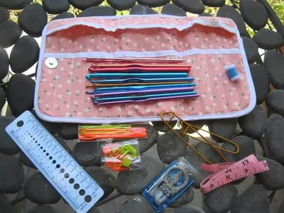 Essential Crocheting Tools and Hooks 35 Items in a Compact Carrying Case