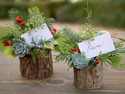 Holiday Place Card Holder. Party Favor (Full Version). Garden Answer