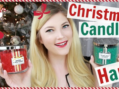 Holly Jolly Christmas Candle Haul