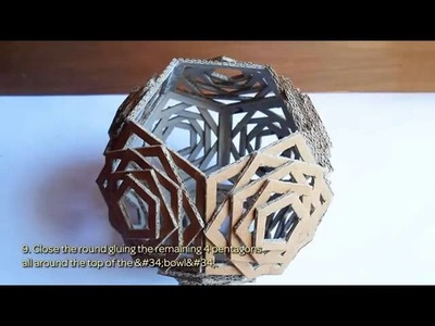 How To Build An Awesome Cardboard Lamp (In A Geometric Shape)