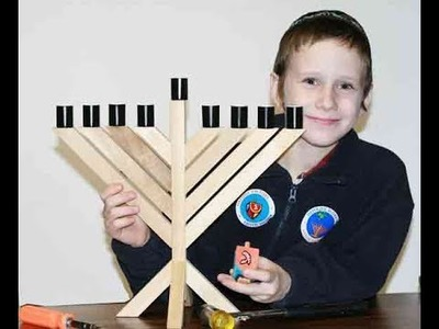 How to build your own your own DIY Menorah