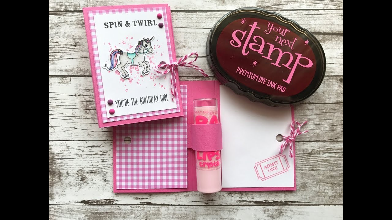 How To Make A Chapstick Holder Card | Your Next Stamp | Stamp Create Repeat