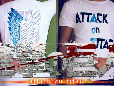 How to make Attack on titan T-shirt !