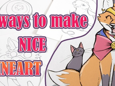 How to Make NICE LINEART 4 Ways + Drawing Popular Characters as ANIMALS