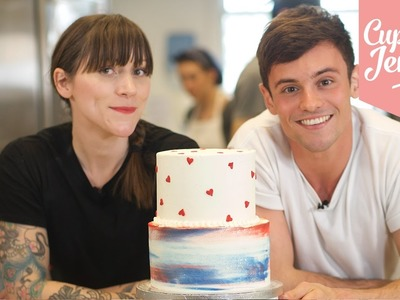 How to Stack a Two-Tier Cake with Tom Daley!   Cupcake Jemma