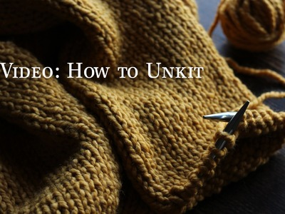 How to Unknit  {correct a mistake when knitting}