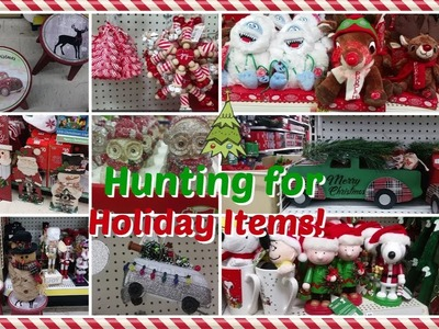 hunting for christmasholiday items wal mart family