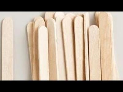 Ice-cream sticks crafts