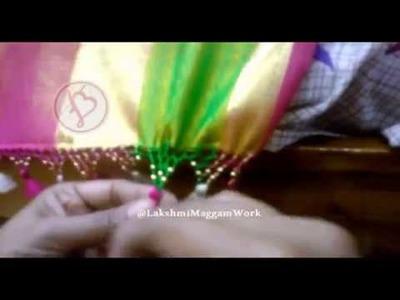 Lakshmi Maggam Work || Three Step Saree Tassels