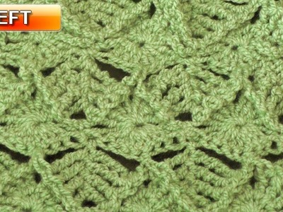 Leaf Crochet Stitch - Left Handed Crochet Tutorial