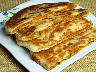 Make yummy pizza paratha at home kids love to eat