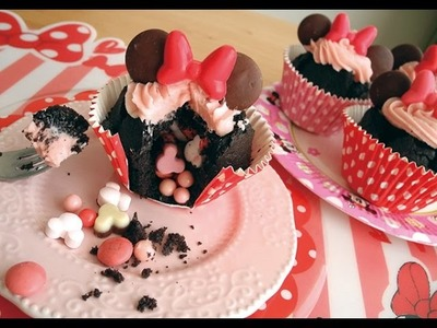 Minnie mouse  gimmick muffin.ミニーのギミックカップケーキ