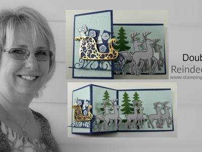 Reindeer Z Fold Card
