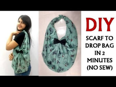 Scarf to Drop bag in 2 minutes | No Sew | Shirin Talwar