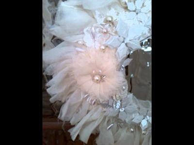Shabby Chic Christmas Wreath inspired by FlorenceH