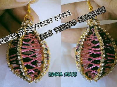 Silk thread earrings weaved in different style | Making with silk thread | jewellery tutorials