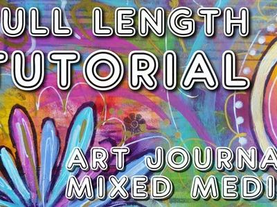 """Studio Time 18 - """"Ready for it'' mixed media art journal tutorial (full length!)"""