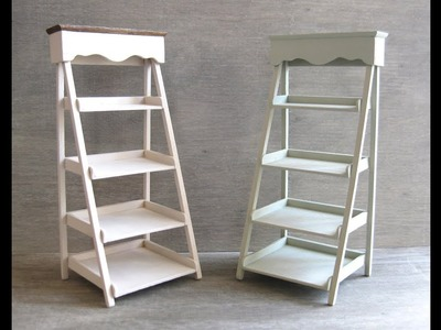 1.12th Scale Dolls House Ladder Shelf Tutorial