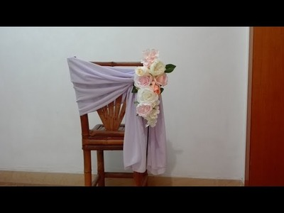 7 Tutorials About How To Make Floral Chair Decor With Plastic Slice