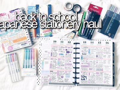 BACK TO SCHOOL HAUL pt.1   Japanese Stationery    revisign
