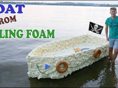 BOAT FROM FILLING FOAM - How to make a boat from FILLING FOAM - DIY