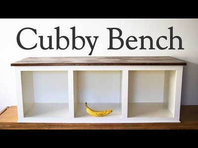 Cubby bench, How to make a - mud porch or entry way bench - moderate DIY woodworking