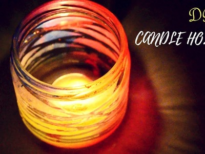 DIWALI DECOR DIY SERIES 2017 I CANDLE HOLDER using GLASS JAR I Ankinish Creations