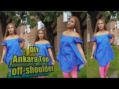 DIY Ankara top off-shoulder