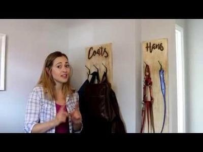 DIY Coat Rack: Routered Reclaimed Wood | The Carpenter's Daughter