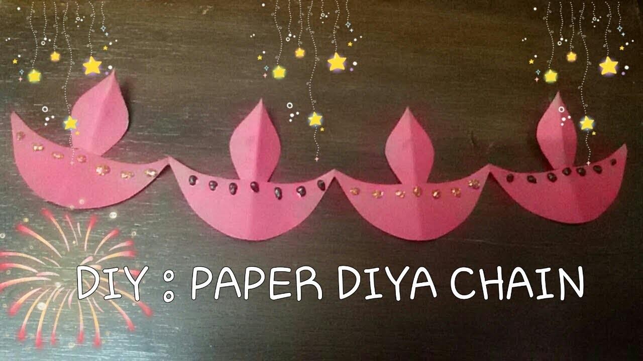 Diy How To Make Paper Diya Diwali Craft Craft For Kids
