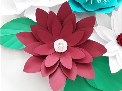 DIY Large Paper Flower. October Flower Series #2