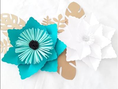 DIY Paper Flower Tutorial. October Flower Series #1