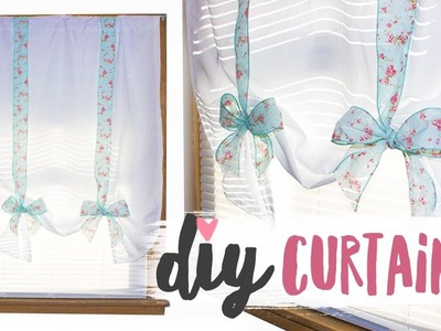 DIY Ribbon Window Curtains | Super Easy & Cute!
