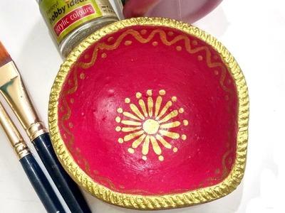 Easy Diya Painting (Part-2) for Diwali | Diya Decoration Ideas | Diwali Decoration DIY